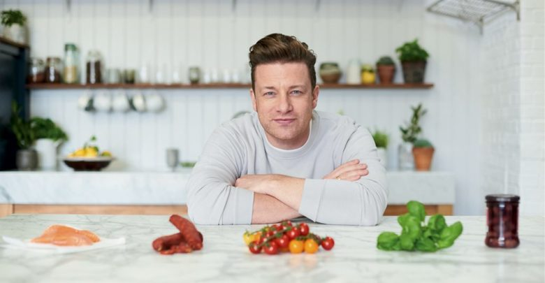 Jamie Oliver, pictured on the front of '5 Ingredients'