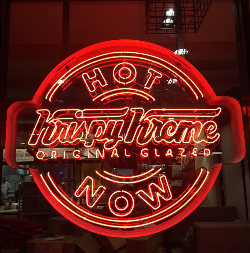 Perfect The Hot Light At Krispy Kreme. Photo: KrispyKreme/Facebook Amazing Pictures