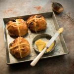 Orange chocolate hot cross buns.