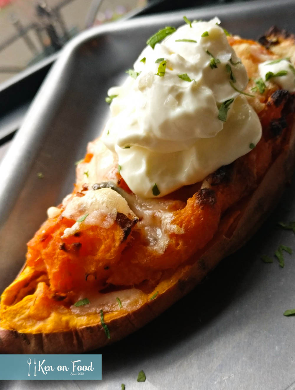 Loaded sweet potato at Butcher. Photo: Ken McGuire/kenonfood.com