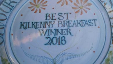 The specially-commissioned Best Kilkenny Breakfast Winner 2018 plate for Savour Kilkenny