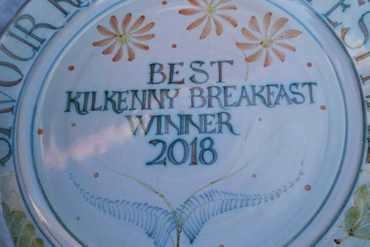 The specially-commissioned Best Kilkenny Breakfast Winner 2018 plate for Savour Kilkenny