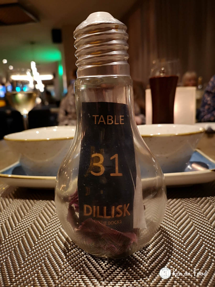 Table 31 at Dillisk. Yes, that is dillisk in the end of a lightbulb table feature.