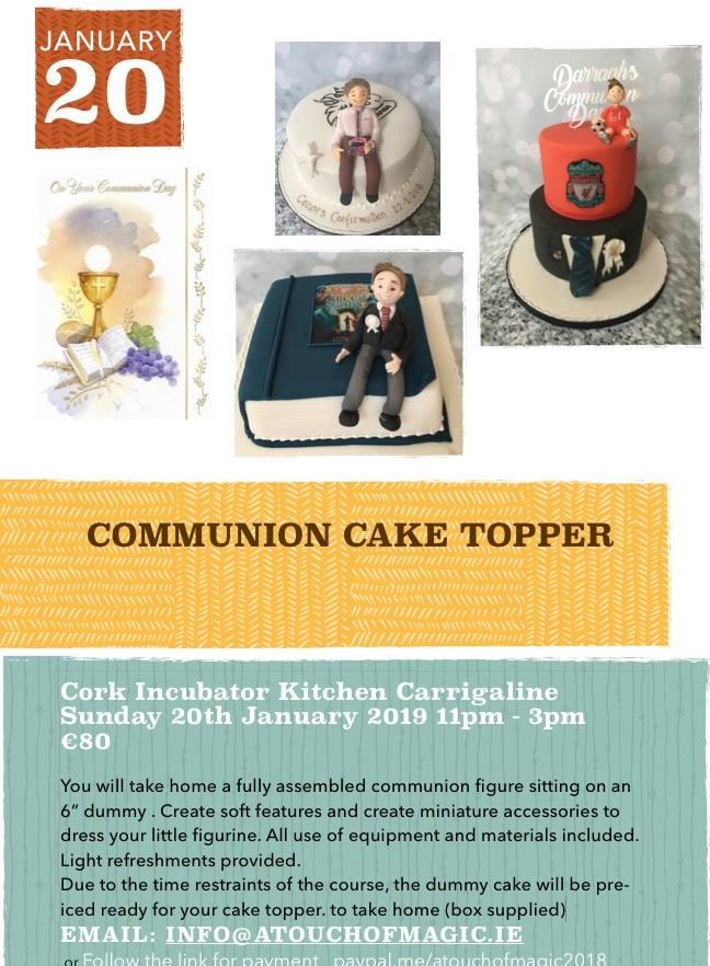 Communion Cake Topper