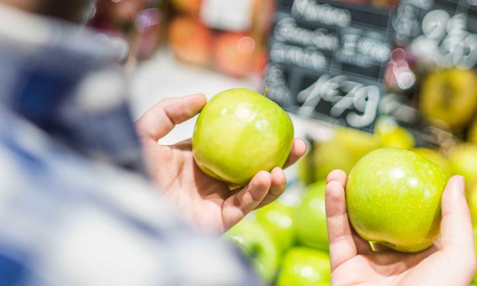 Apples on offer.