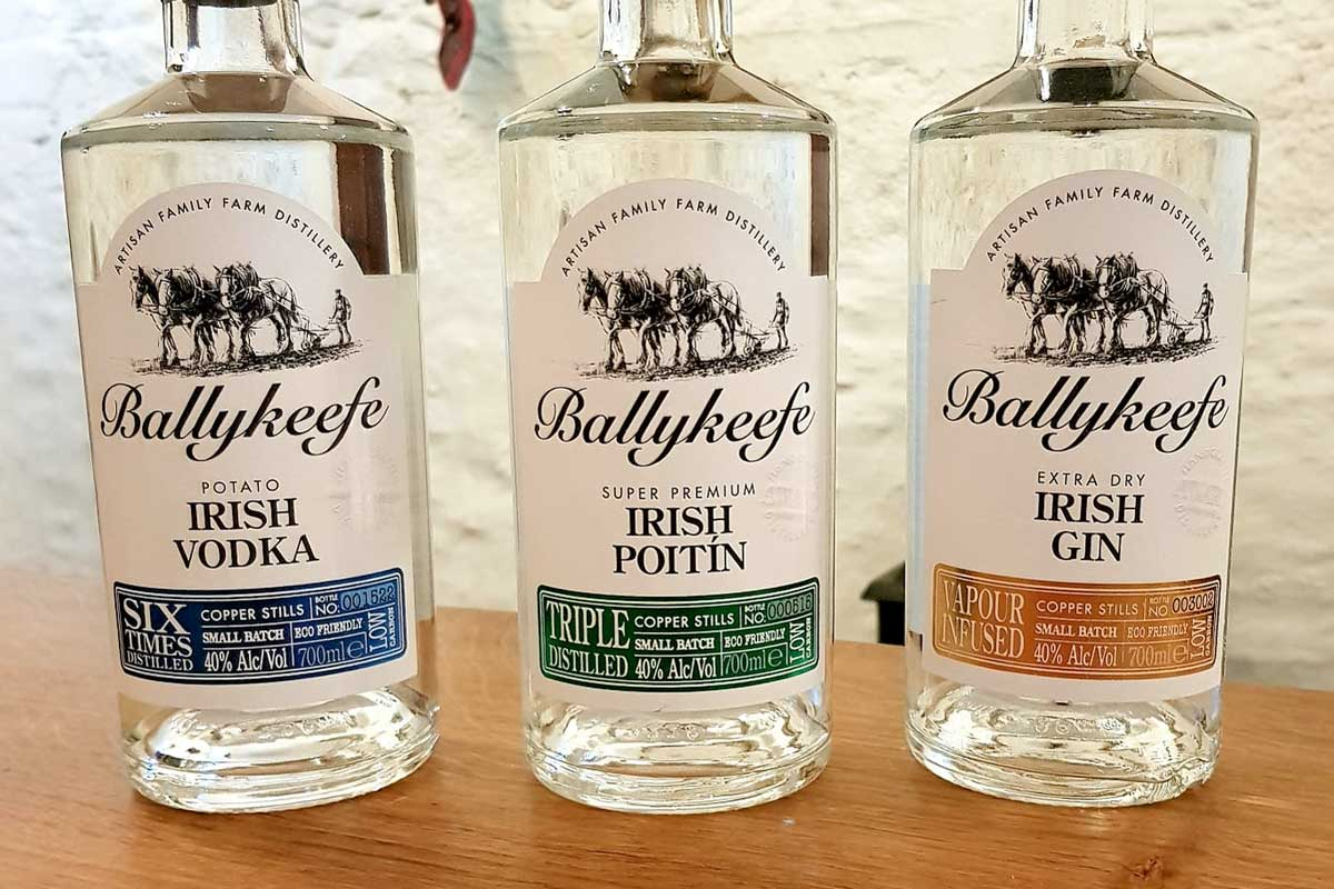 Ballykeeffe Distillery's new sustainable paper labels