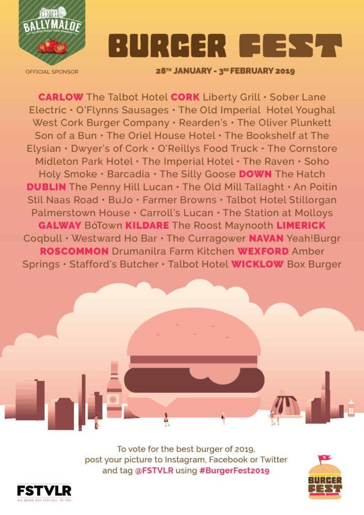 Burger Fest 2019 venues.