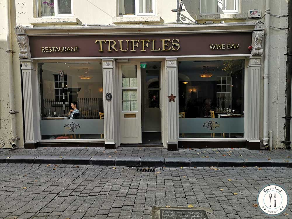 Truffles restaurant and wine bar, William Street, Kilkenny.