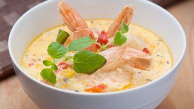 A bowl of seafood chowder