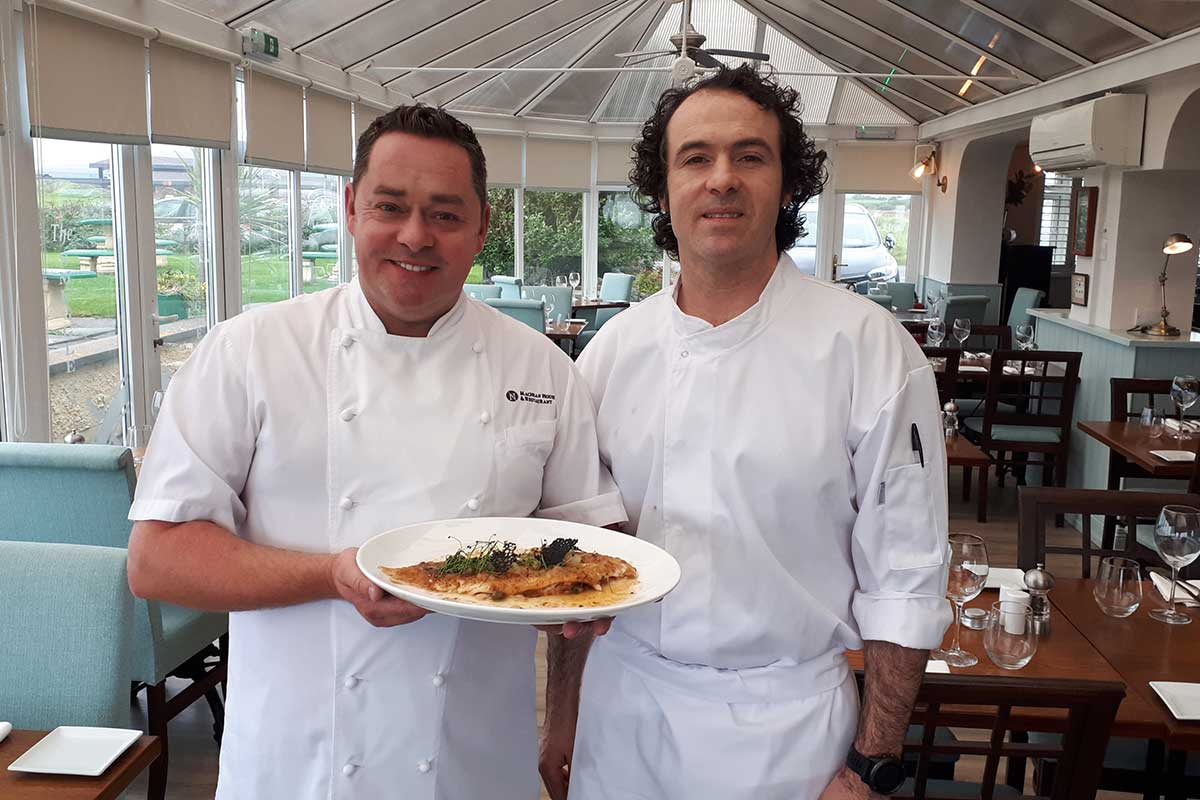 Neven Maguire and Henry Hunt, head chef at Smuggler's Inn, Waterville.