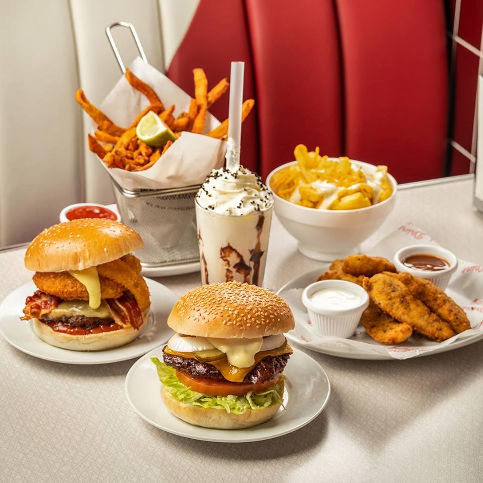 Burgers, chicken, cheese chips and a shake at Eddie Rockets. Photo: Eddie Rockets Ireland/Facebook