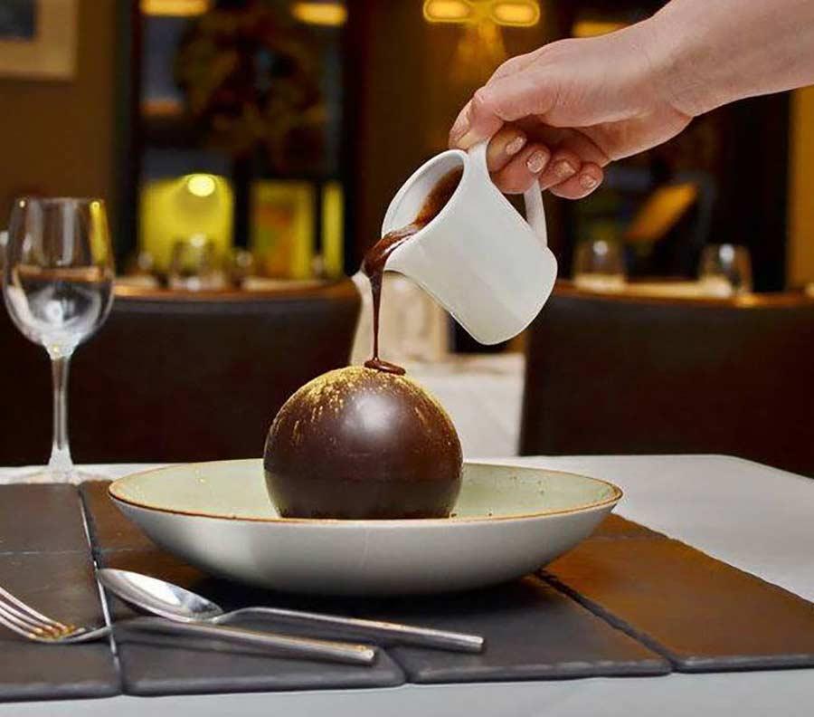 The chocolate ball dessert at Zuni, Kilkenny.