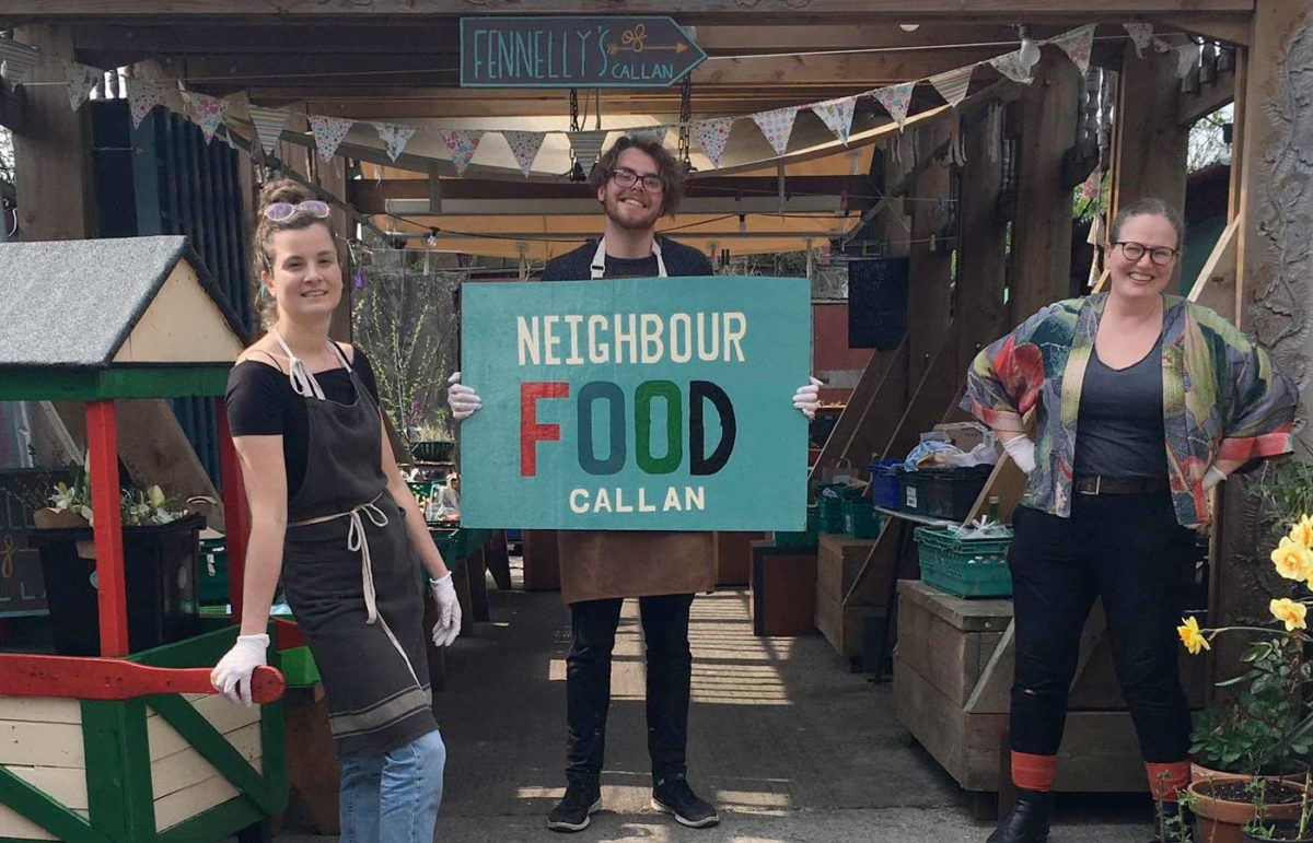 Neighbourfood Callan team at Fennelly's of Bridge Street