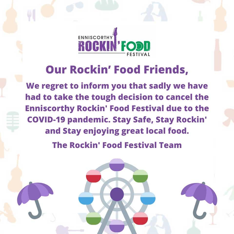 Enniscorthy Rockin' Food Festival statement.