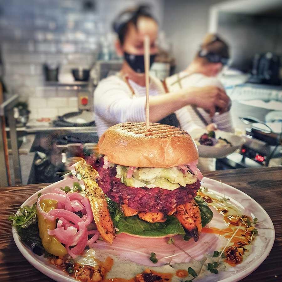 Beetroot burger at Cafe la Coco, Kilkenny
