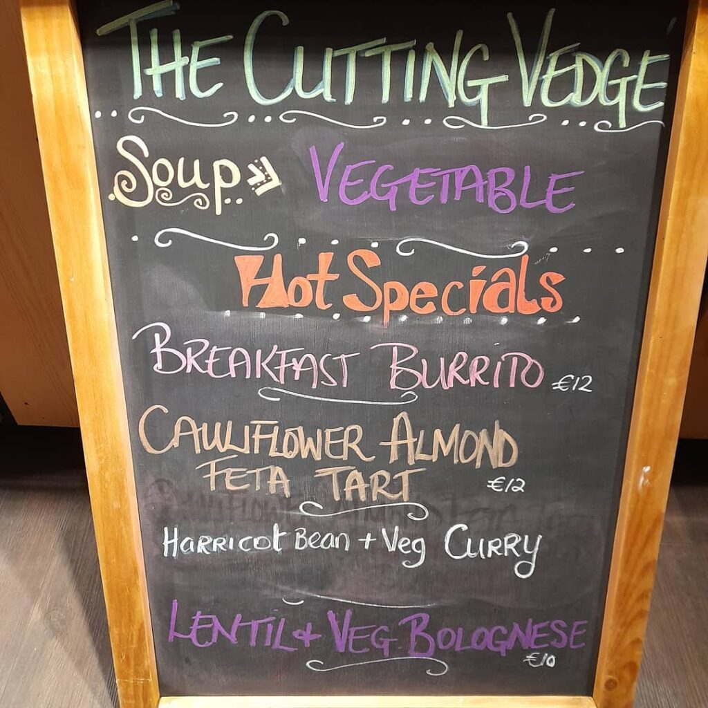The Cutting Vedge menu board