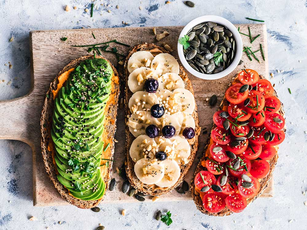 Fresh foods for a plant-based lunch. Photo: Ella Olsson/Unsplash