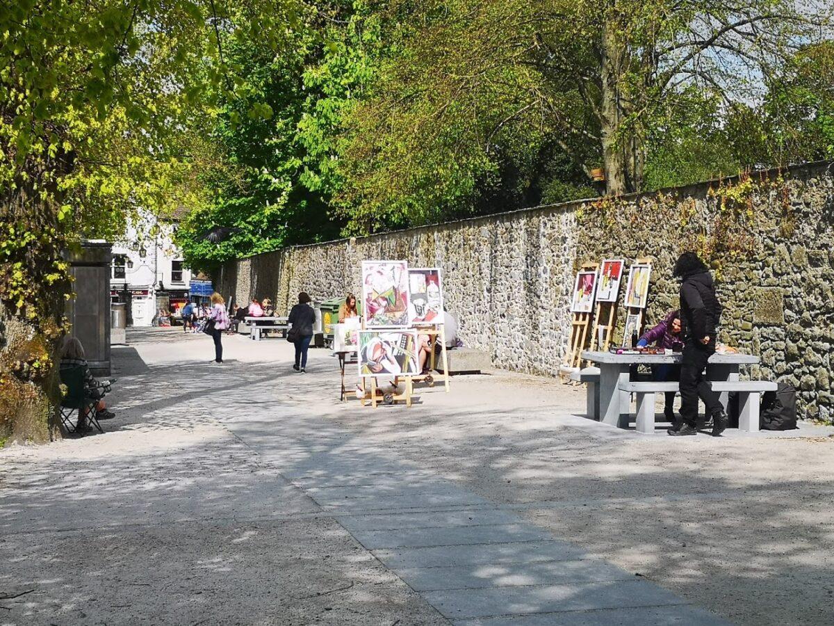 Art and tables on the Mayor's Walk, Kilkenny. Photo: kenonfood.com